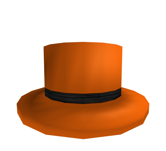 02c31ea33ed Black Banded Orange Top Hat - RBXLeaks