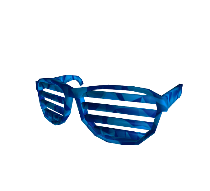 Blue Sparkle Time Shutter Shades