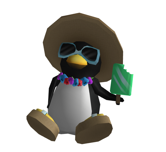 Summer Penguin Shoulder Friend