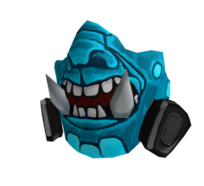 Teal Orc Breathing Mask (Event)